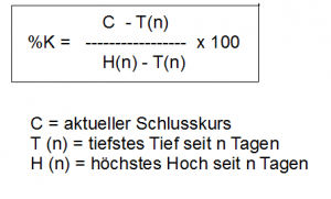Stochastik-Fast-Formel