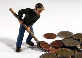 Geldschaufeln